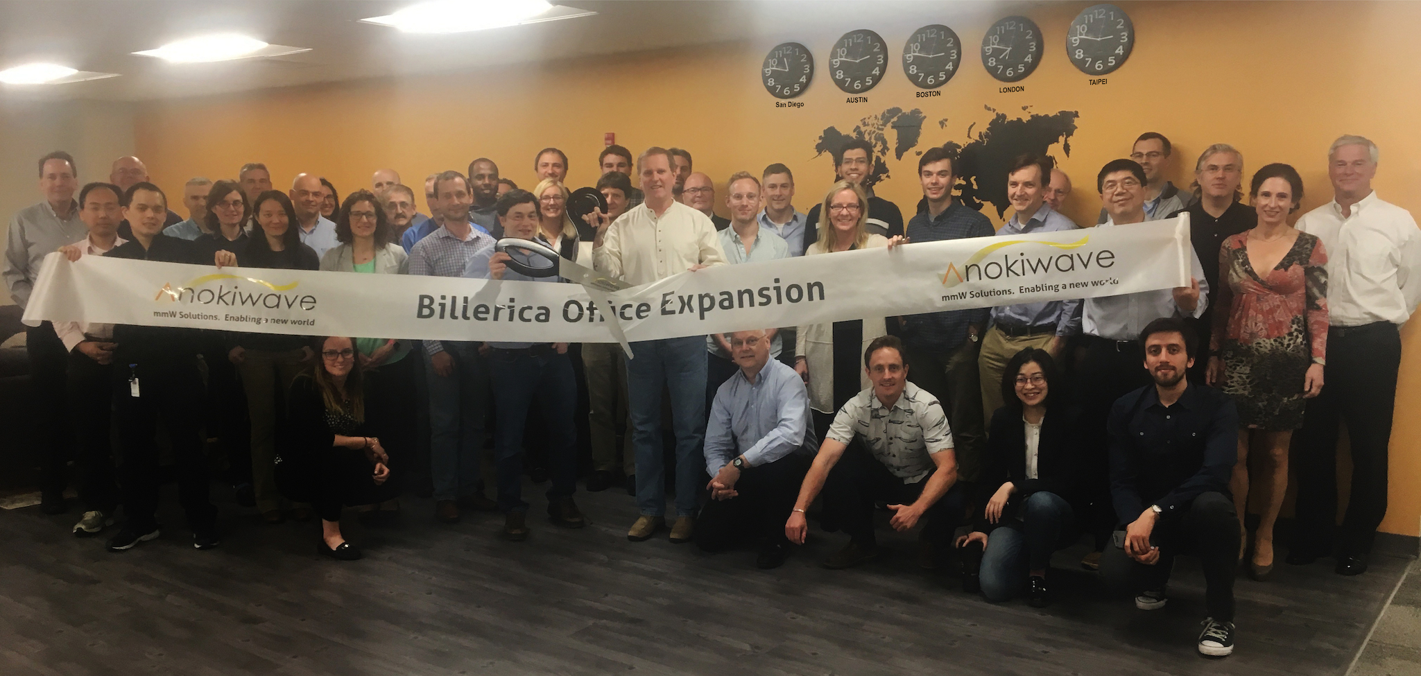 Anokiwave celebrates the expansion of the Billerica, MA office