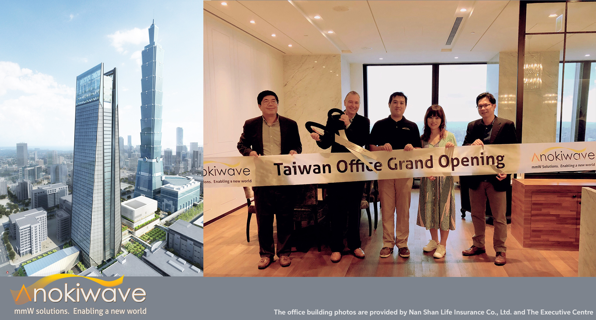 The Anokiwave A/P team celebrate the opening of the new Taiwan Office in Taipei, Taiwan